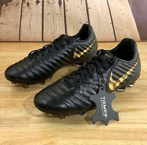 Nike JR Legend 7 Elite FG Youth Soccer Crampons Black Gold AH7258-077 Multi Taille