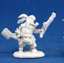 77133 - Gruff Grimecleaver, Dwarf Pirate  - Reaper Dark Heaven Bones Minis