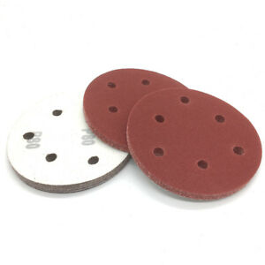 Lot 10 disques avec trou papier de verre diamètre 125 mm grain 40 à 2000 ponçage