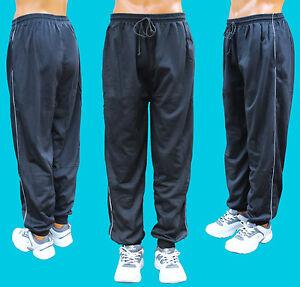 Herren-Jogginghosen-schwarz-100-Baumwolle-Sporthose-Trainingshose-Fitness-Hose