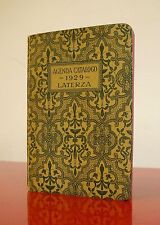 AGENDA CATALOGO LATERZA 1929 Antica Agendina Pubblicitaria ART DECO Black Book