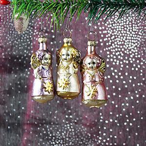 Engel-set-Weihnachtsbaum-Christbaumschmuck-Lauscha-Glas-Figur-Ornaments-T-N4