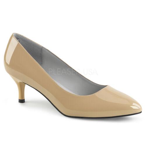 Black Pointy Toe Low Heels Mens Crossdresser Shoes Pumps in Womans size 13 14 15