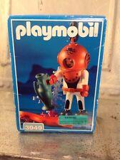 Vintage 1997 Playmobil 3949 Deep Sea Diver Treasure Hunter Eel Vase Coral MIB