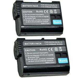 2X-2499mAh-ENEL15-EN-EL15-EL15a-EL15e-Battery-for-Nikon-D7000-D7100-D800-D800E