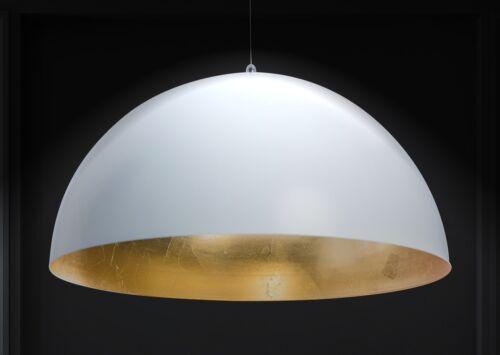 XXL 50cm Hänge lampe Studio Pendel leuchte Rund Weiß//Gold Industrie
