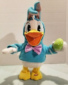Hallmark-Disney-Donald-Duck-Dances-Sings-Easter-Bunny-Outfit-Working-14-034