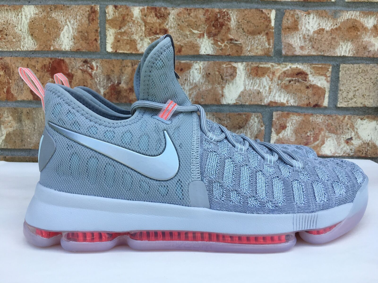 Men's Nike Zoom KD 9 Limited Pre-Heat Wolf Grey Pink Shoes Size 10 843396-090