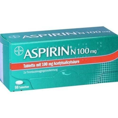 ASPIRIN N 100 mg Tabletten 98 St PZN 5387239
