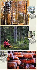 Sweden 2000 FDC - Maxi Card nr 149, 151 and 152 - The Forest