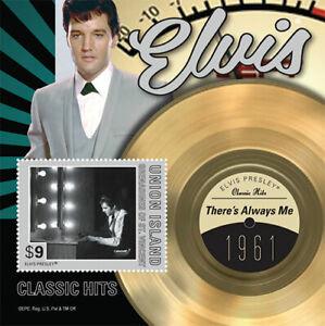 Union-Island-2013-Elvis-Presley-Classic-Hits-Stamp-Souvenir-sheet-MNH