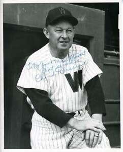 Chuck Dressen Psa Dna Coa Autograph 8x10 Photo  Hand Signed Authentic