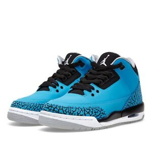 Nike-AIR-JORDAN-3-RETRO-III-Powder-blue-aj3-AJIIV-size-3-5-4-4-5-5-5-5-6