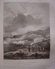 Grande gravure de la reddition de TORTOSE le 2 janvier 1811 Tortosa
