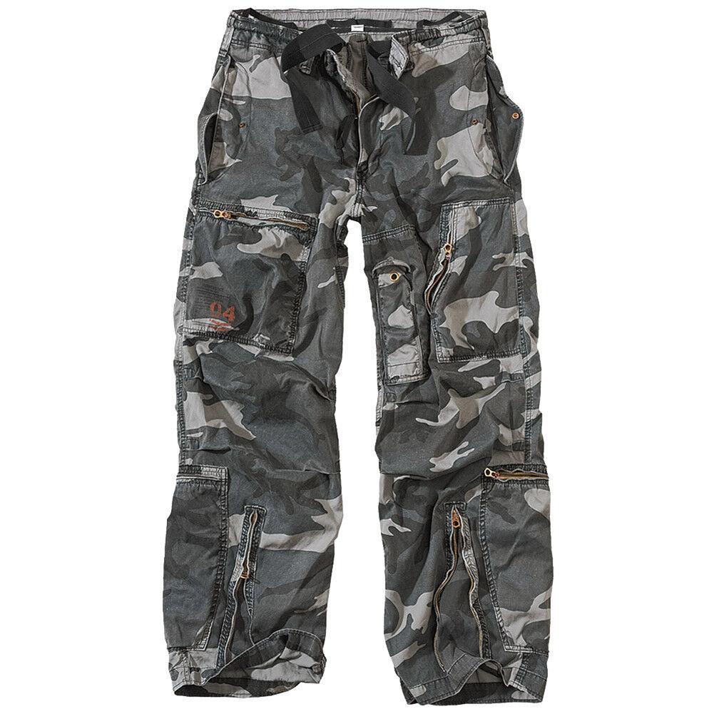 Surplus Infantry Cargo Mens Work Trousers Casual Combat Pants Night Camo S-XXL