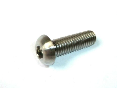 M6 x 15 mm Button Head Titanium Ti GR5 Race Spec Boulons 1.0 mm Standard Pitch