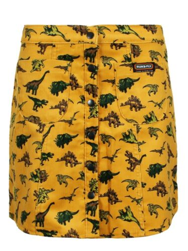 Run /& Fly Skirt Bizzy Bee Dinosaur Corduroy Women/'s Gold