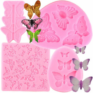 Butterfly Cupcake Fondant Cake Decorating Tools Candy Chocolate Silicone Molds