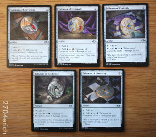 Magic MTG Lot of 5 Talisman Mana Artifacts Modern Horizons 5x *NM Unplayed*