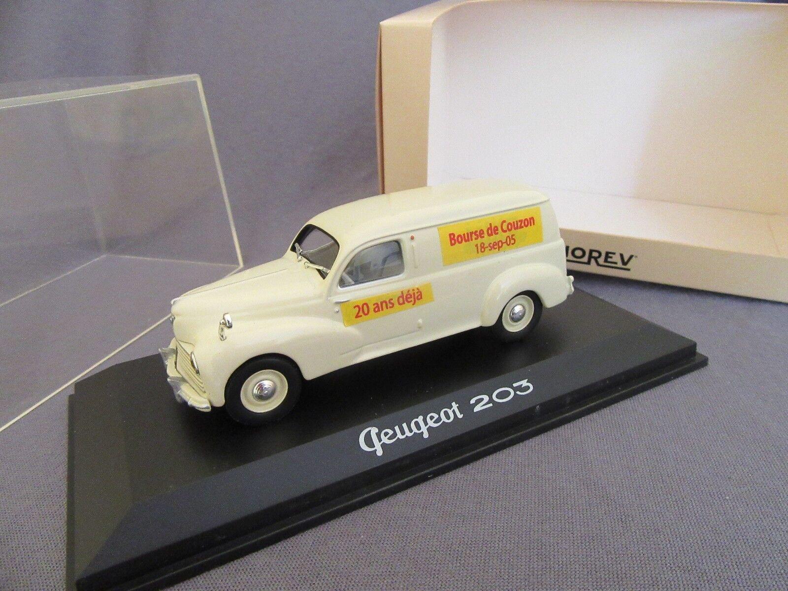 299G Norev 471012 Peugeot 203 Miko Pouch Couzon Miniatures 18 September 2005 1