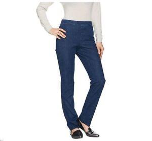 034-As-Is-034-Isaac-Mizrahi-Live-Petite-24-7-Denim-Straight-Leg-Jeans-Size-14P-QVC