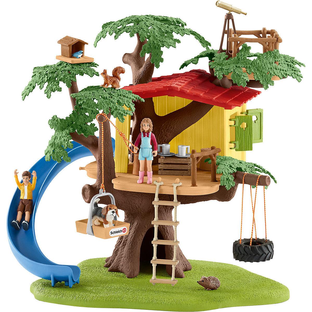 Schleich Farm World 42408 - Abenteuer Baumhaus con Molti Accessori Nuovo & Ovp