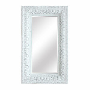 Outstanding Details About French Shabby Chic Style Extra Large Distressed White Patterned Frame Mirror Interior Design Ideas Gentotryabchikinfo