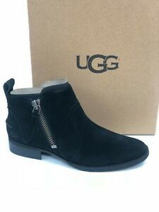 ec0db38b46c Details about UGG Australia Women's Aureo Boot Black 1094889 Suede Leather  Ankle Booties
