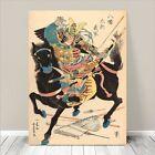 "Vintage Japanese SAMURAI Warrior Art CANVAS PRINT 8x12""~ Kuniyoshi #248"