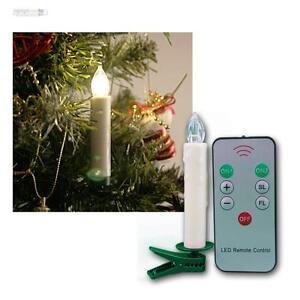 10 kabellose led weihnachtskerzen lichterkette weihnachtsbaumbeleuchtung kerzen ebay. Black Bedroom Furniture Sets. Home Design Ideas