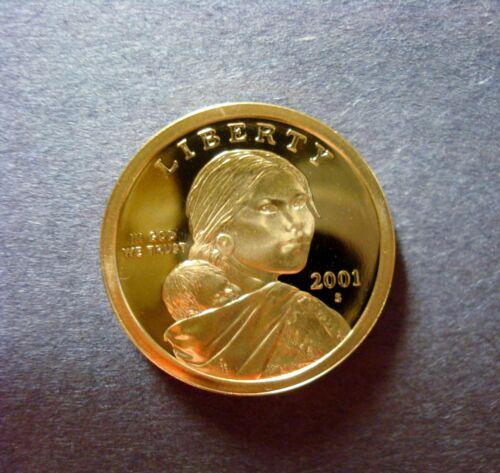 2001-S GEM PROOF SACAGAWEA GOLDEN DOLLAR DEEP CAMEO NICE CLEAN HIGH GRADE COIN