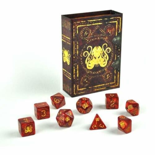 Red Brand of Cthulhu Polyhedral Set Elder Dice