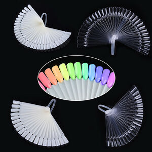 20Pcs-32Pcs-Color-Card-False-Nail-Tips-Fan-Transparent-White-Practice-Display