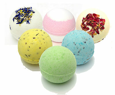 Handmade Bath bombs 65g - 5cm (coconut, lemon, rose, strawberry & more)