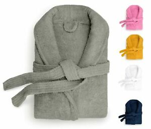 Unisex Terry Toweling Bath Robe Mens  Ladies Collared Dressing Gown Large Sizes