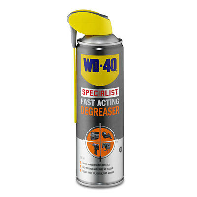 WD-40 44393 Specialist Fast Acting Degreaser 500ml Smart Straw Grease Remover
