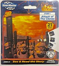 """STAR WARS Story 1 """"Attack of The Clones"""" 3D View-Master 3 Reel Pack #2046 Sealed"""