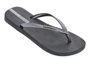 Ipanema / Women`s Flip Flops Glitter II Sandal Gray / Ipanema Silver Brazilian Sandals NWT b1ed47