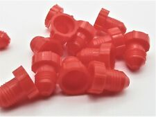 """Red  20 Plug Pack 1//2/""""-20 Round PE Plugs for 37 Degree Flared Tube Fittings"""