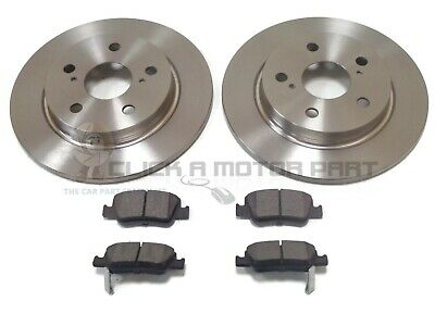 FOR TOYOTA AURIS 1.8 HYBRID MK2 VVTI 2012-2015 2 REAR BRAKE DISCS /& PADS SET