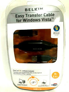 Belkin-Easy-Transfer-USB-8ft-Cable-For-Windows-Vista