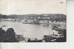 VINTAGE-OBAN-HARBOUR-Argyll-and-Bute-Scotland-old-Postcard-unused