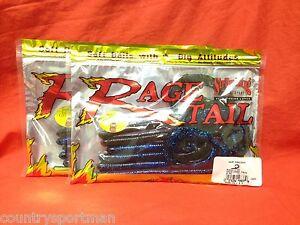 Strike King Rage Tail Worm Anaconda RGANA10-50 Okeechobee Craw 10 In Soft Plasti