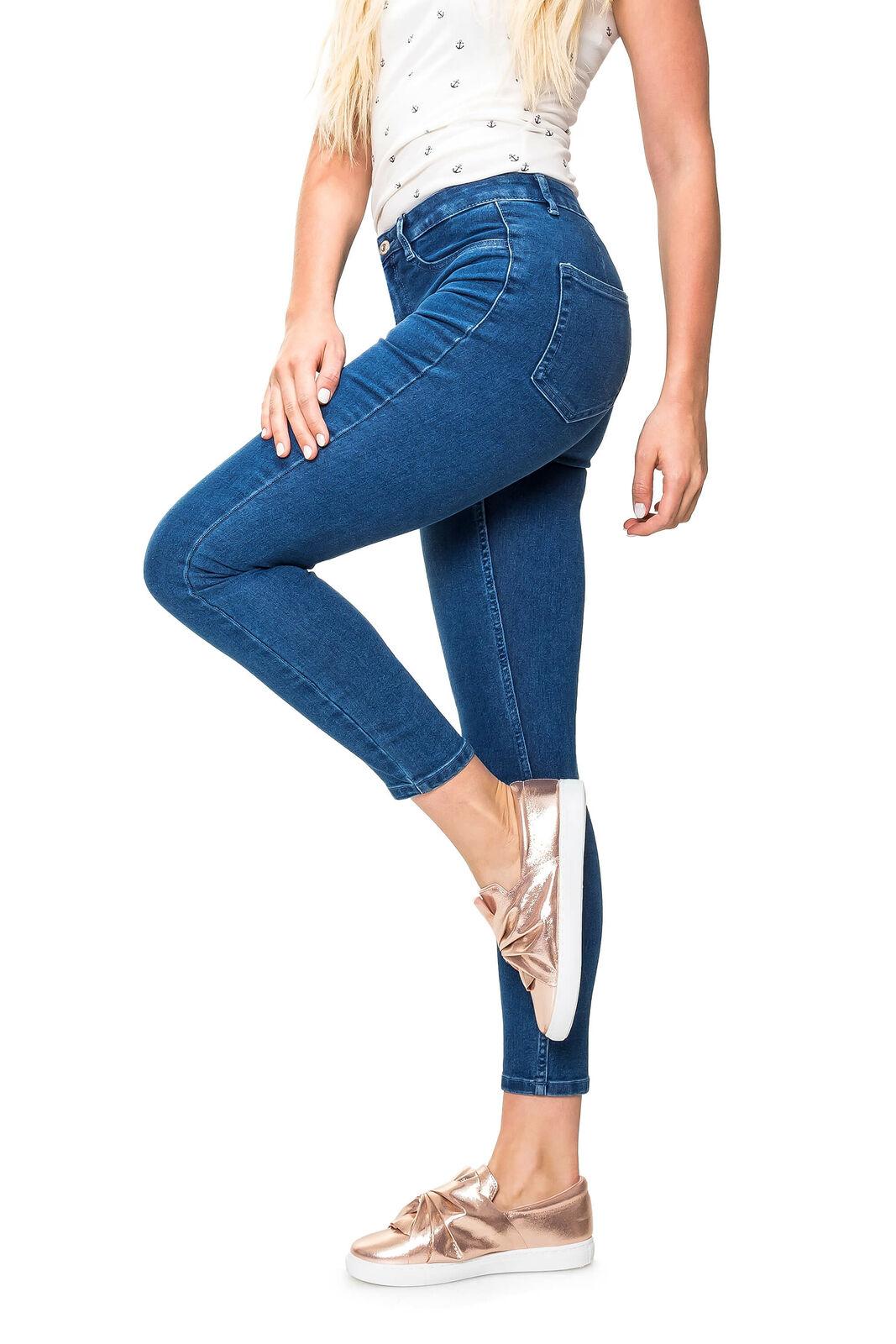 Only Damen Skinny Slim Jeans Stretch Damenhose Jeanshose Lange Hose Grey Denim