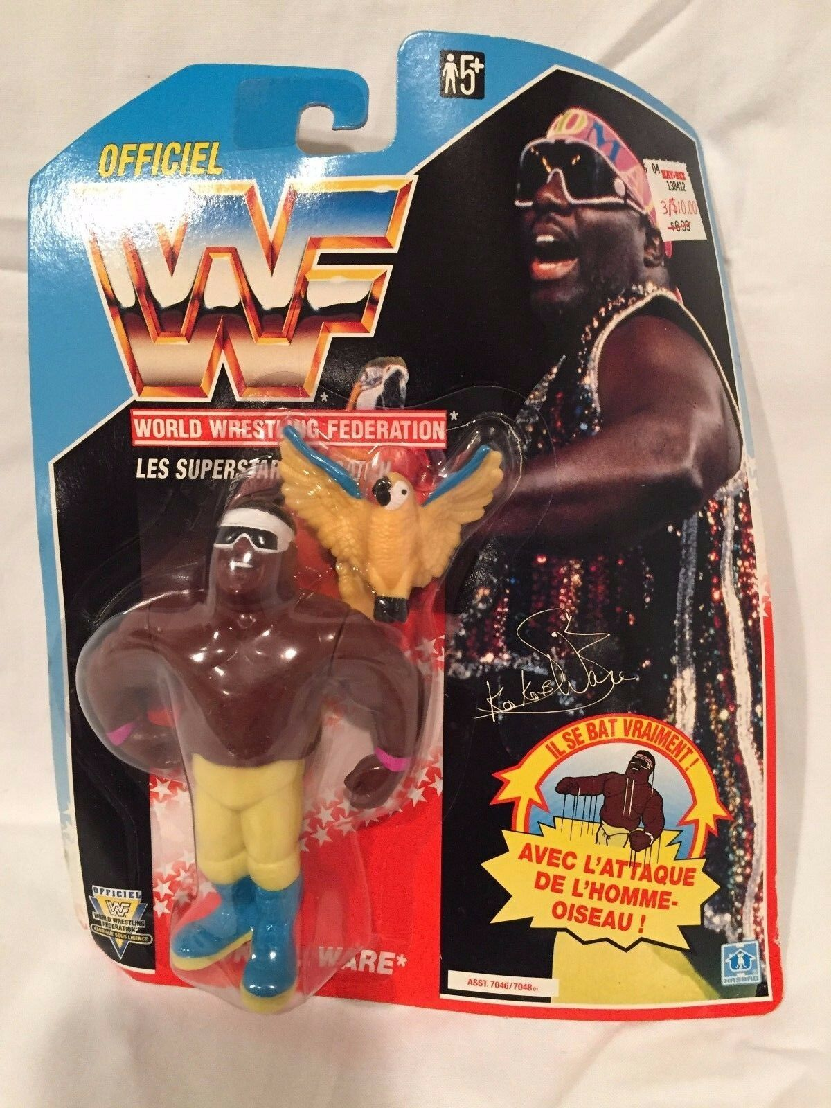 Vintage 1991 KOKO B Ware French Package WWF Hasbro Figure New, Sealed in Package