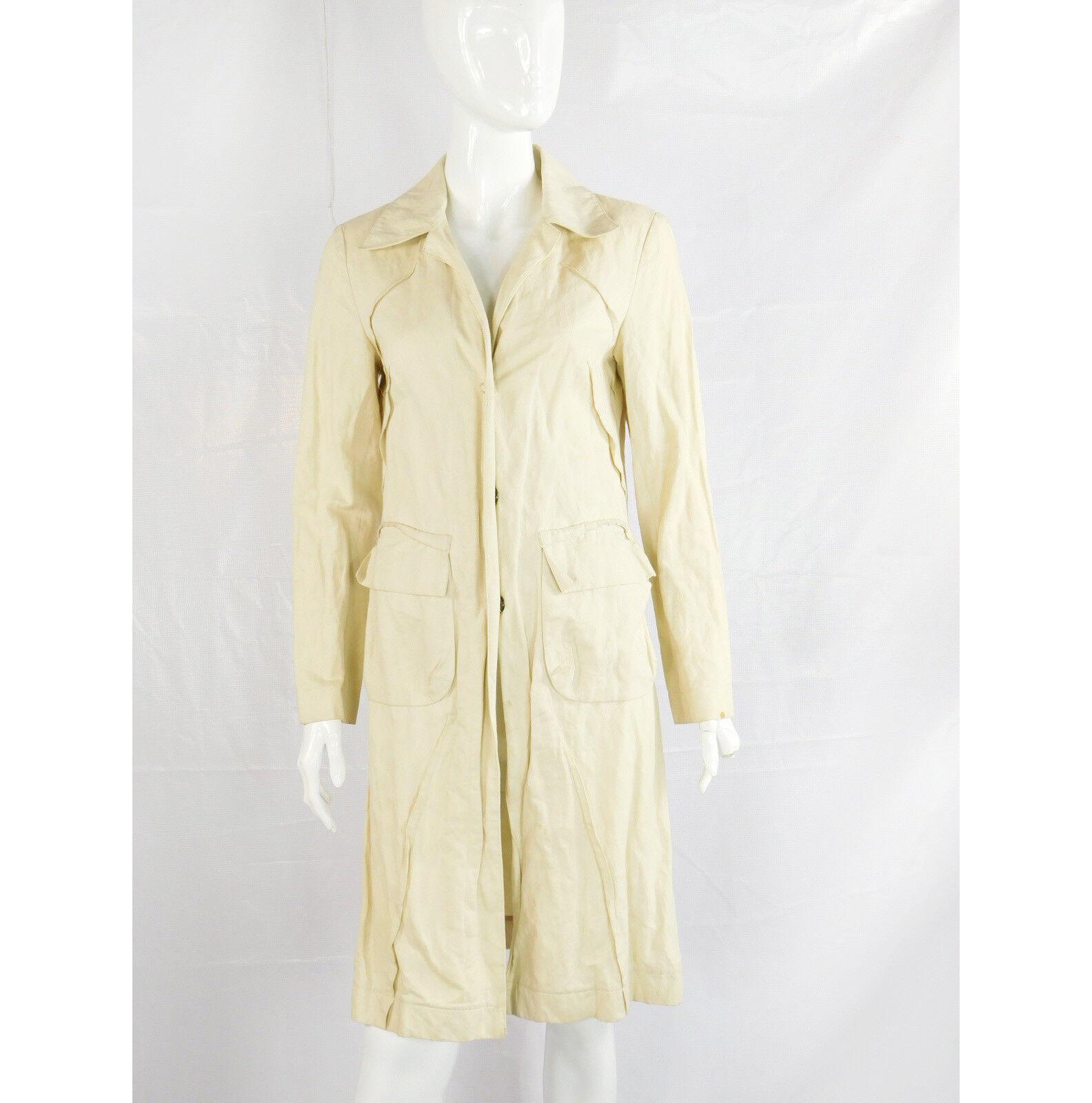 Pinko Light Tan Cotton    Trench Coat - Size 4 159462