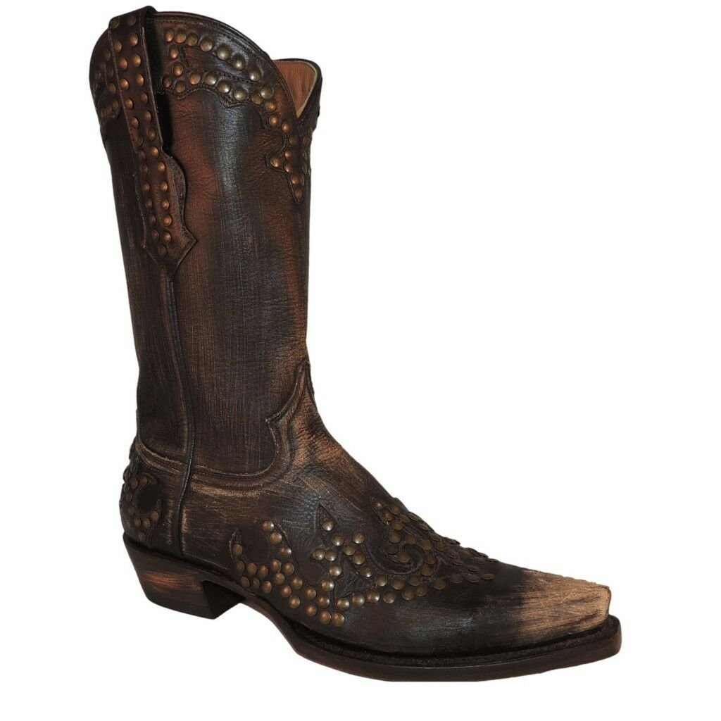 Stetson Stetson Stetson Ladies Vintage Western Boot with Rivets 12-021-6105-0742 New 169527