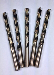 M35 Cobalt Lot of 5  Letter G Jobber Drill Bits,135 DEG SPLIT POINT, NAS 907 **