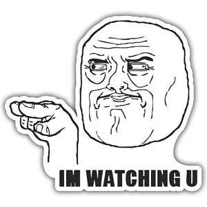 Watching You Finger Pointing Meme Sticker 77x87mm Vw Euro Jdm Ebay