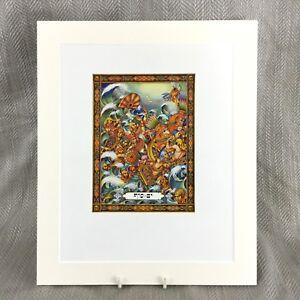 1950-Ebraico-Stampa-Judaica-il-Rosso-Mare-Egyptians-Arthur-Szyk-Haggadah-Arte